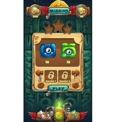 Jungle shamans gui mission completed vector