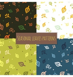Leaves pattern 4 seasons vector