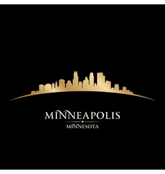 Minneapolis Minnesota city skyline silhouette vector image