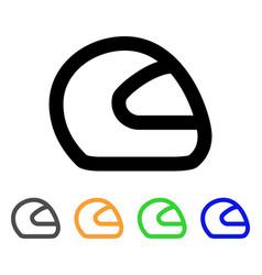 motorcycle helmet stroke icon vector image