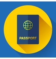 Passport icon flat design vector