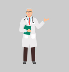 Physiatrist medical specialist vector