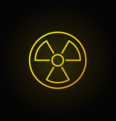 Radiation linear yellow icon vector