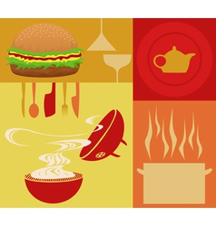 Restaurant meal vector