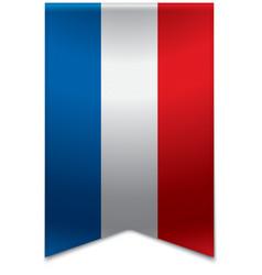 Ribbon banner - dutch flag vector image