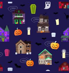 scary horror house dark castle home vector image