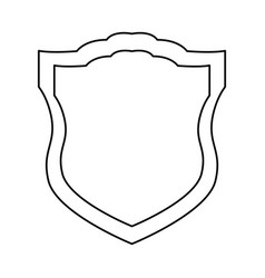 Shield security emblem vector
