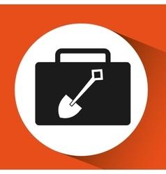 shovel tool construction icon yellow design vector image vector image