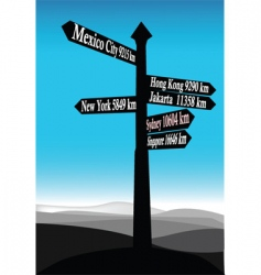 Signposts vector