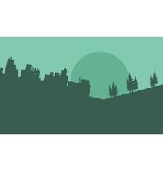 Silhouette of beautiful urban scenery vector image vector image