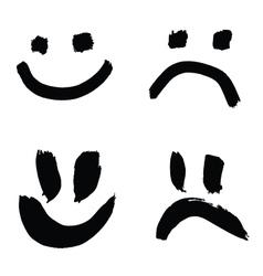 smiles of joy and sorrow vector image