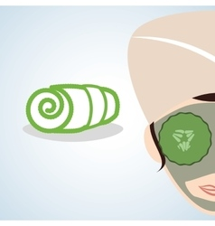 Spa center design health icon isolated vector