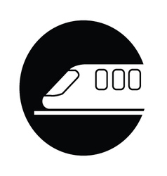 Train symbol icon vector