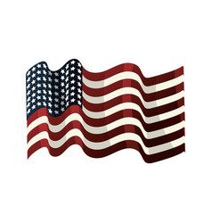 Usa flag to celebrate holiday patriotic vector