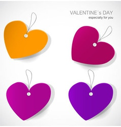 Valentines day tags vector image