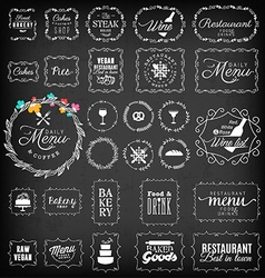 Vintage Restaurant Menu and Bakery Frame Set vector image