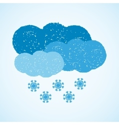 Weather - dark cloud and snow vector image