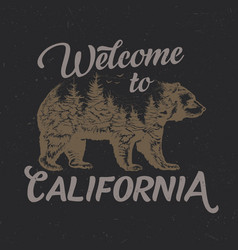 welcome to california t-shirt label vector image