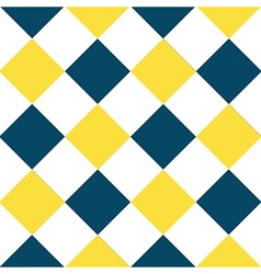 Yellow buttercup blue teal white diamond vector