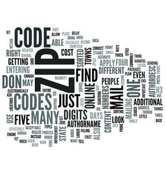 Zip codes text word cloud concept vector