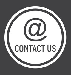 Email address solid icon contact us and website vector