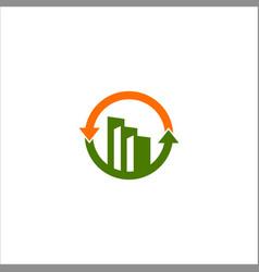 Business finance building logo vector