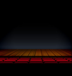 Theater or stage template for show premier with vector