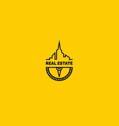 Real estate logo vector