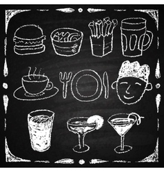 Hand drawn restaurant menu elements vector