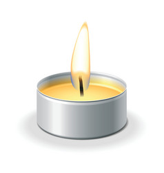 Tea light vector
