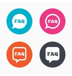 Faq information signs help speech bubbles vector