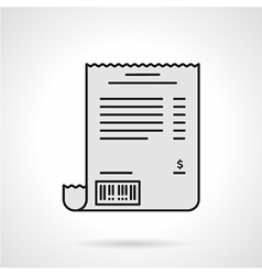 Receipt flat color icon vector