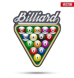 Premium symbol of billiard tag vector