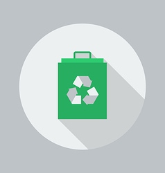 Eco flat icon eco bag vector
