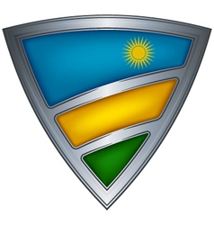 Steel shield with flag rwanda vector
