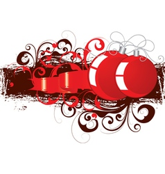 red and black ornaments vector image