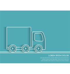 Truck outline - delivery concept vector