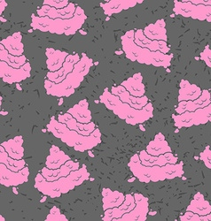 Pink turd seamless pattern pile of shit ornament vector