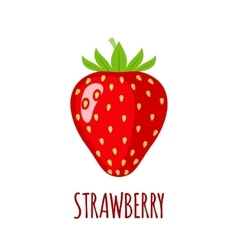 Strawberry icon in flat style on white background vector