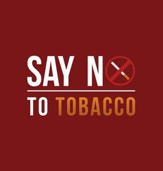 Background say no tobacco day vector