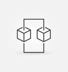 blockchain line concept icon design vector image