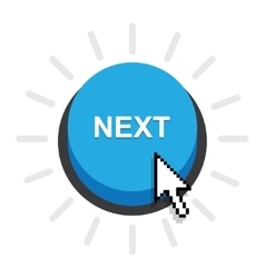 Blue Button next vector image vector image