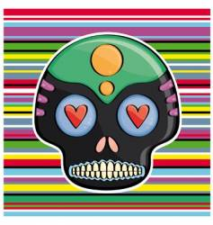 candy skull vector image