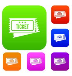 Circus show tickets set collection vector