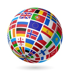 European flags globe vector image
