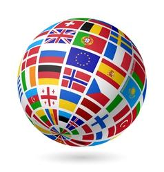 European flags globe vector image vector image