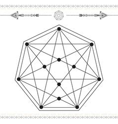 geometric icon magic 3Black vector image