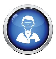 Icon of chemist in eyewear vector