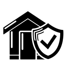 insurance home icon simple black style vector image