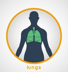 Lungs Poster vector image vector image